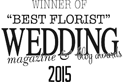 winner of best florist at the wedding magazine and blog awards 2015