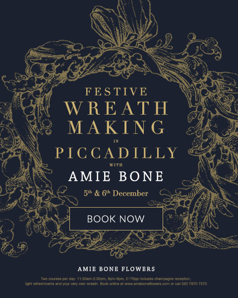 amie bone festive wreath making course in piccadilly