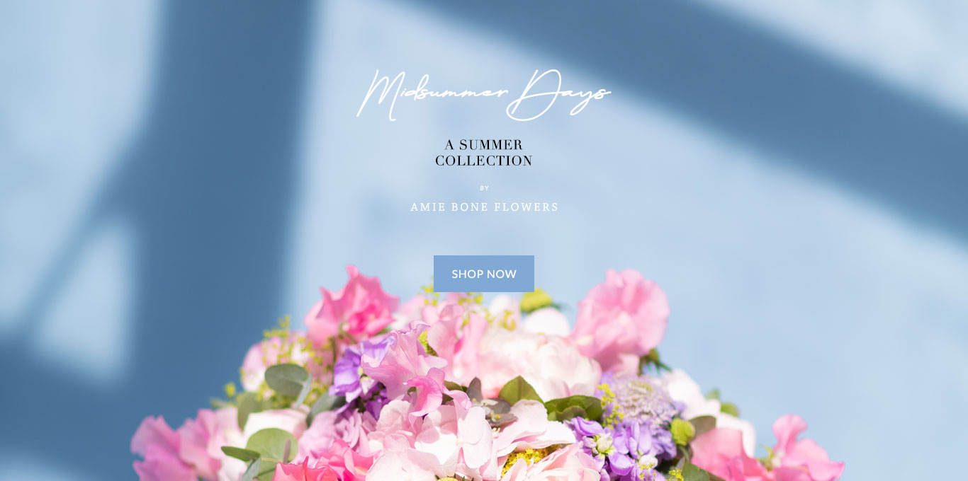 midsummer days, a summer collection of bouquet by amie bone flowers