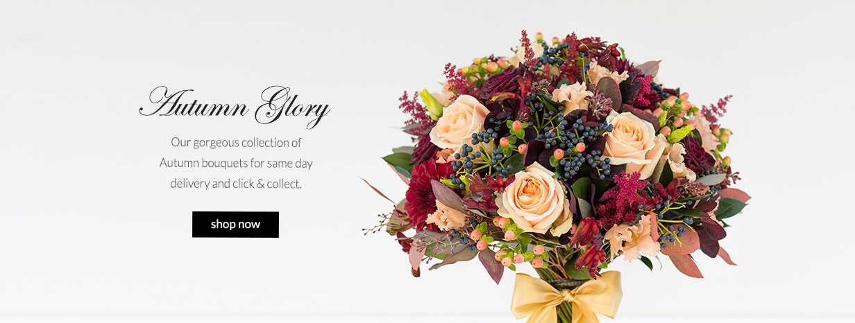 Our gorgeous collection of autumn bouquets for same day delivery and click & collect