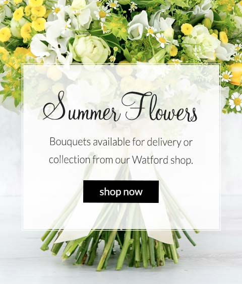 order flowers: bouquets available for delivery or collection from our watford shop