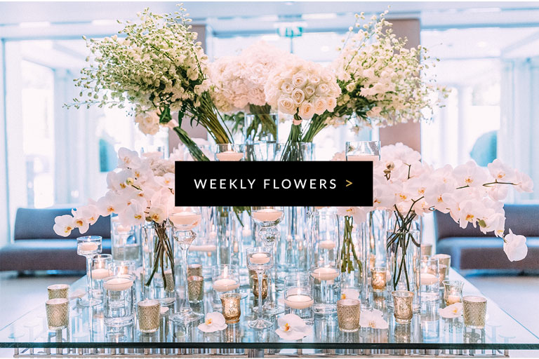 Flowers for businesses delivered weekly