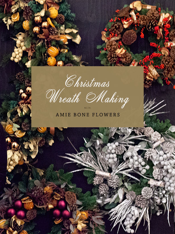 Christmas Wreath Making | Gifts | Amie Bone Flowers | Order Online