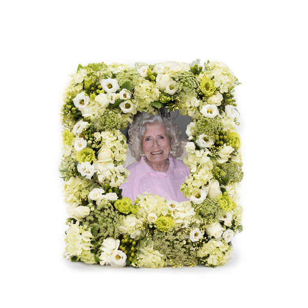 Special Tribute Funeral Flowers Photo Frame
