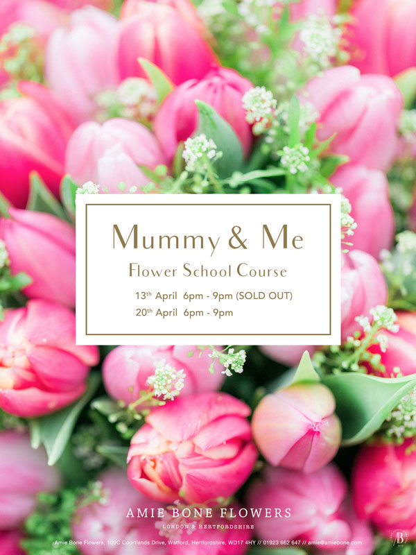 flower school courses - mummy and me for mother's day