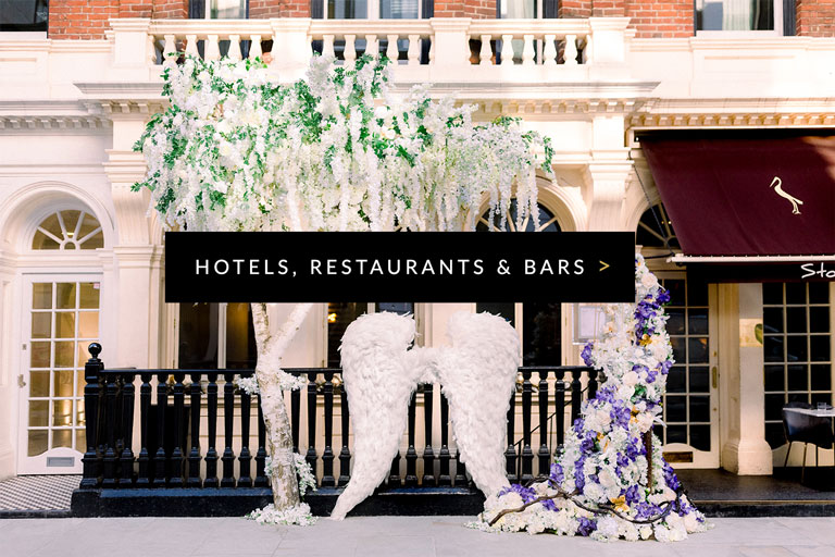 Flowers for hotels, restaurants and bars