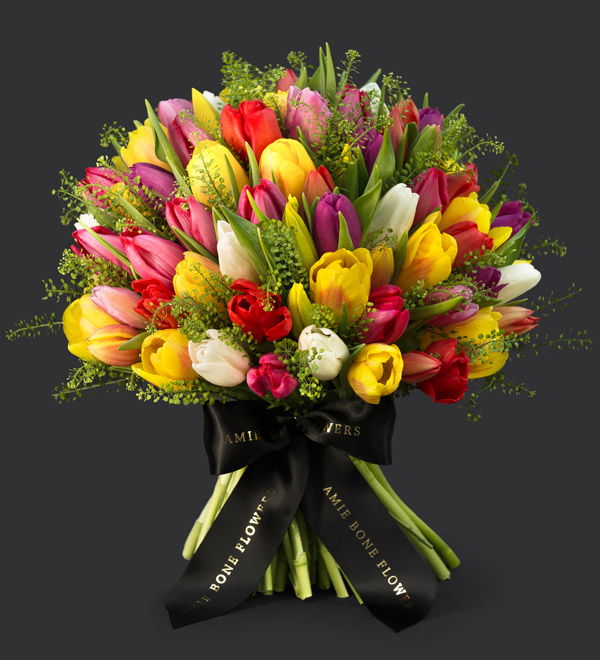 spring bouquet from amie bone flowers