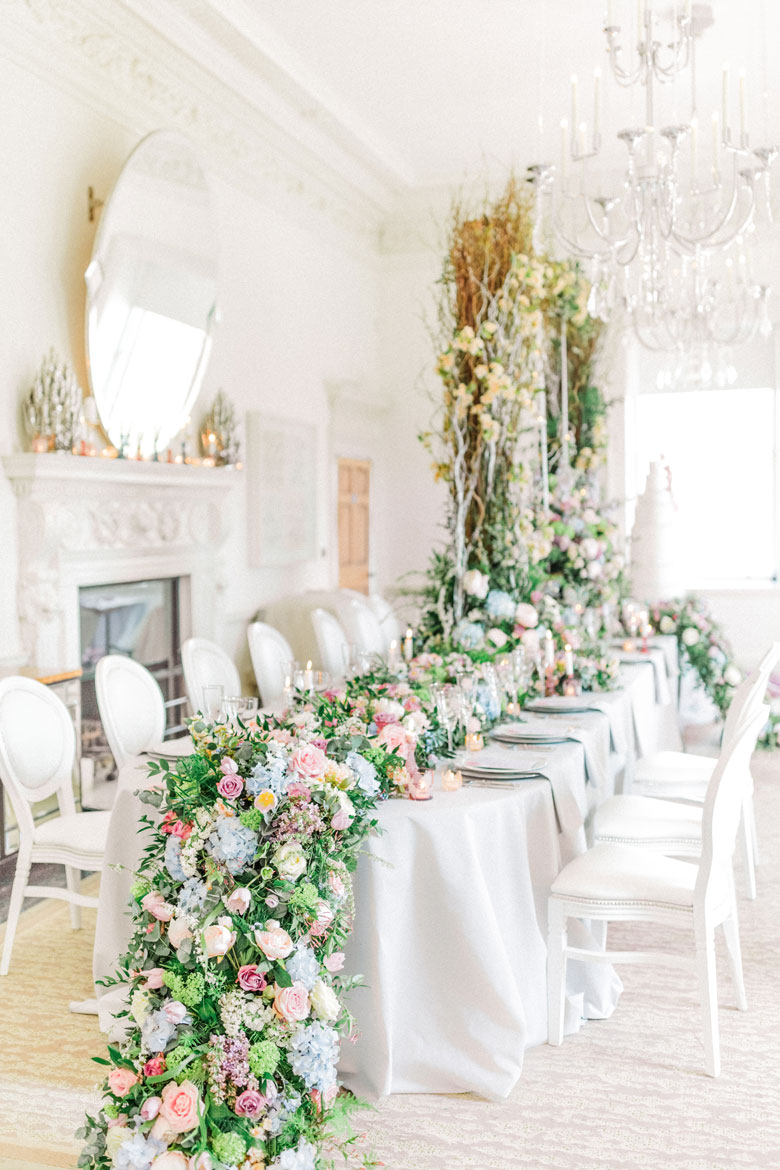 869d7abb8e6 Luxury Wedding Flowers inspired by Unicorns at The Grove Hotel by ...