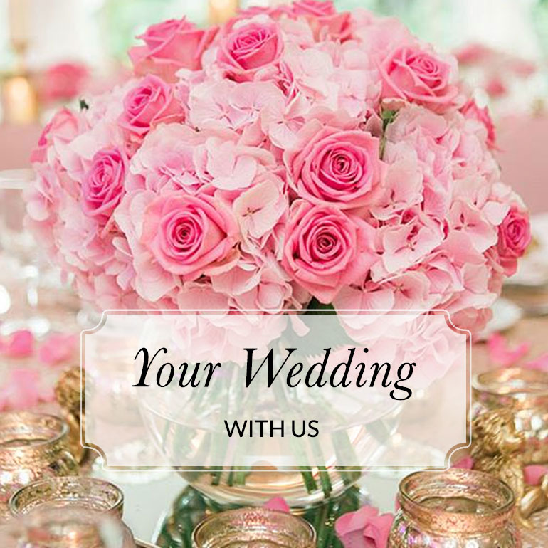 your wedding with us